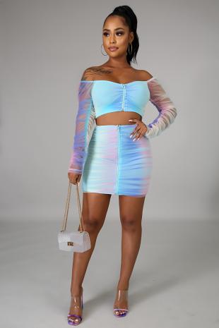 Taste The Rainbow Skirt Set