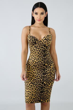 Cheetah Malicious Midi Dress
