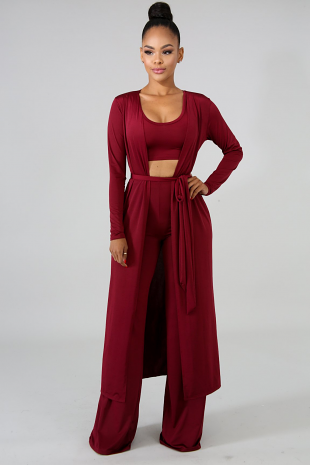 Silky Basic Pant Set