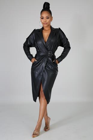 Starlit Leatherette Dress