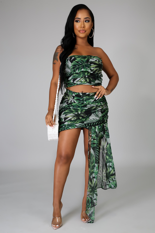 Caribbean Palms Skirt Set