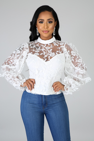 Glimmer Lace Blouse