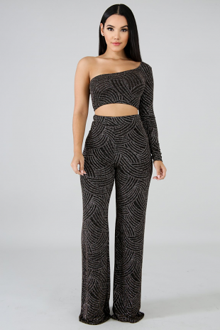 Glitter Through Palazzo Set