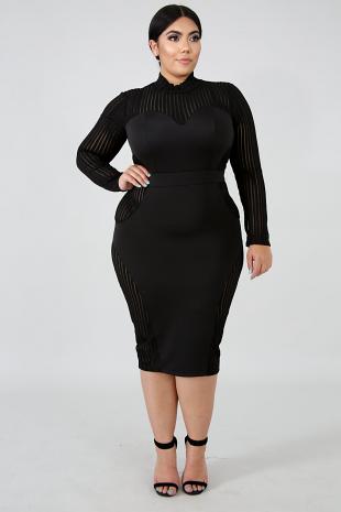 Sass Sheer Body-Con Dress