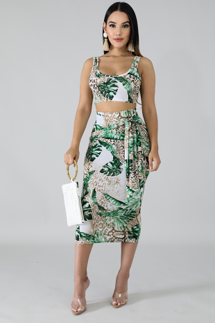 Palm Island Skirt Set