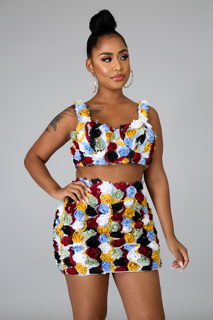 Floral State Skirt Set