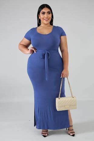 Jersey Slit Dress