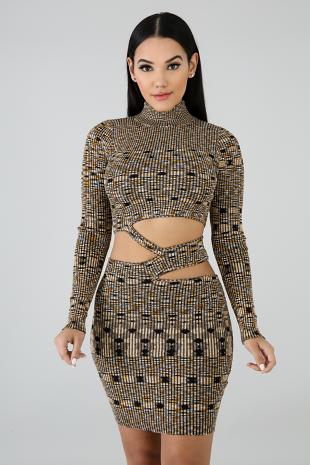 Knit Zag Body-Con Dress