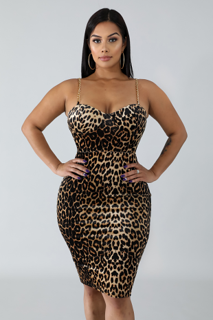 Suede Cheetah Dress
