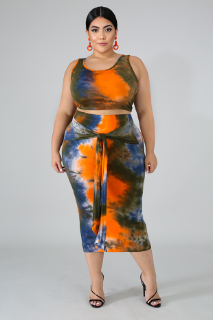 Tie Dye Skirt Set