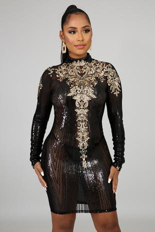 Chandelier Body-Con Dress