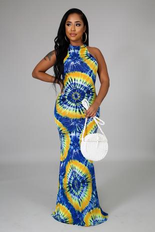Color Splash Mermaid Dress