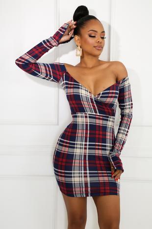Plaid My Way Dress