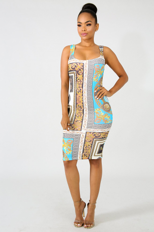 Egyptian Body-Con Dress