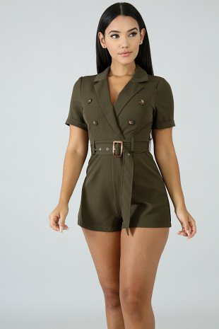 Button Tux Romper