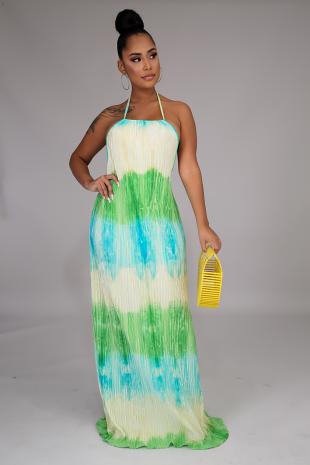 Dream Pleats Maxi Dress
