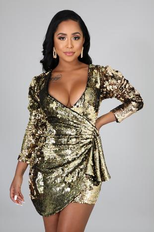 Bounce Back Sequin Dress