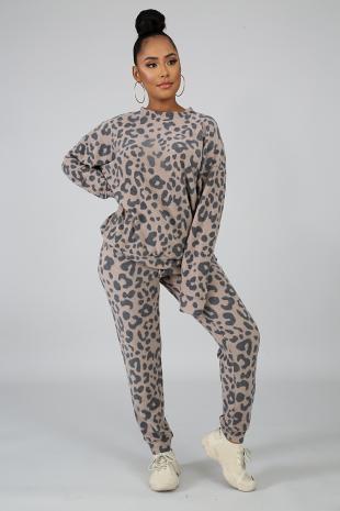 Feisty Leopard Jogger Set