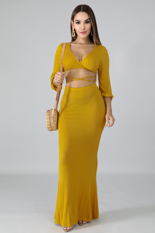 Mermaid Jersey Knit Skirt Set