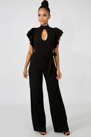 Tier Peep Jumpsuit