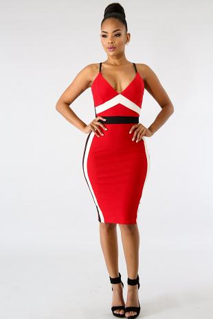 Knit Hour Glass Body-Con Dress