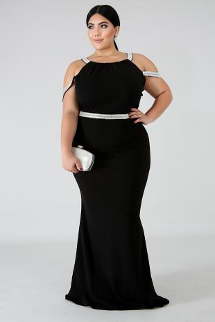 Rhinestone Galore Maxi Dress