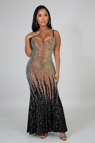 Sequin Specks Mermaid Dress