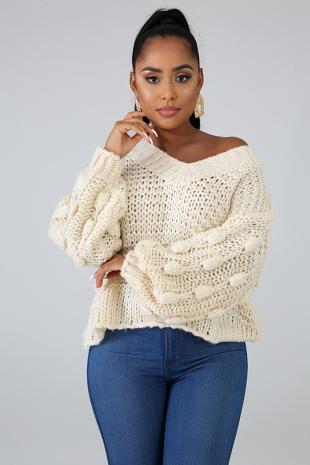 Mamma Knit Corn Sleeves Sweater