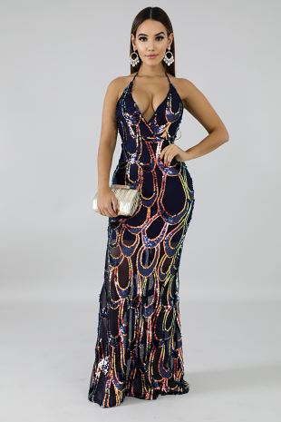 Sequin Scallop Mermaid Dress