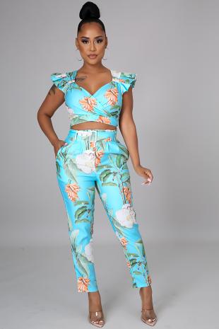 Summery Tropics Pant Set