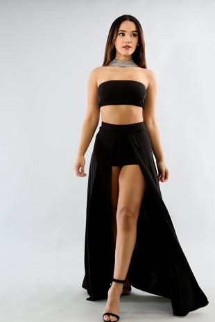 Tube Top Maxi Skirt Matching Set