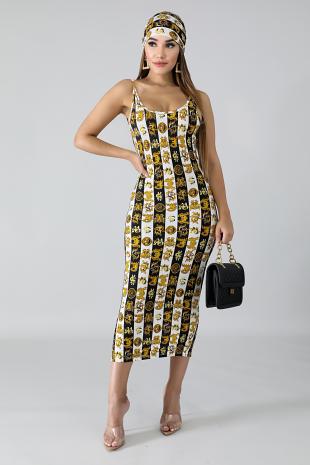 Cash Flow Midi Dress