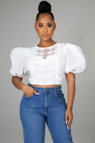 Face The Lace Crop Top