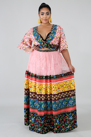 Flores Maxi Skirt Set