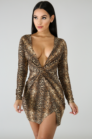 Sassy Glitter Body-Con Dress