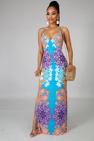 Floral Pinwheel Dress