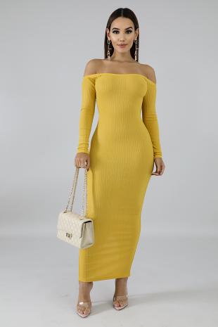 Knit Shine Midi Dress