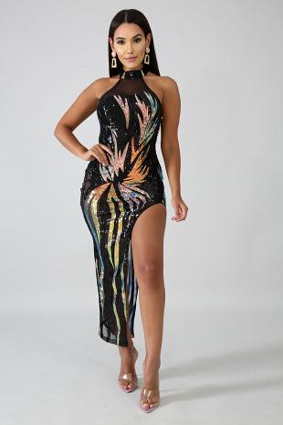 Sequin Explosion Dress