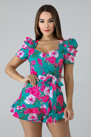Floral Dolly Romper