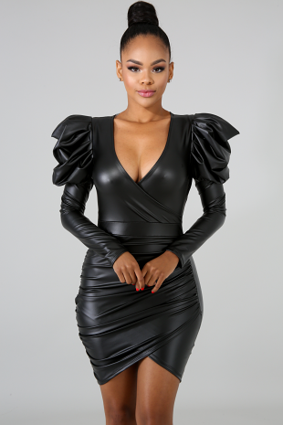 Frenchy Leatherette Dress