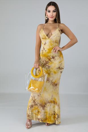 Marble Dye Mermaid Dress