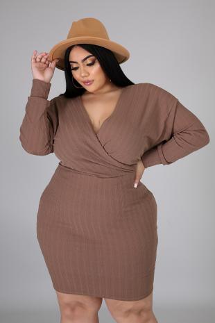 Curbing Body-Con Dress