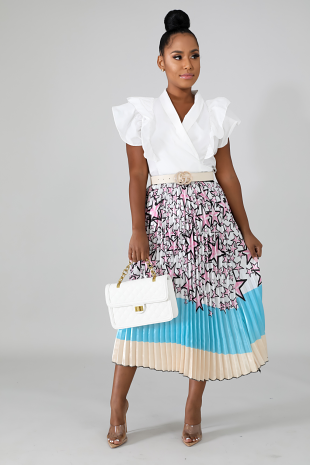 Starz Pleated Skirt