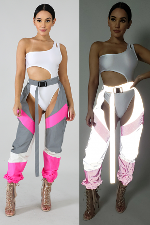 Sheveron Belt Pants