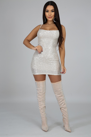 Sequin Doll Mini Dress
