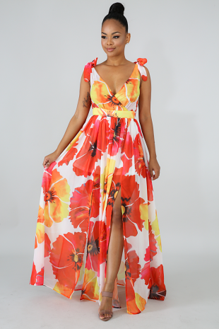 Casual Floral Maxi Dress