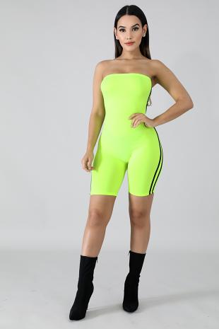 Neon Sporty Tube Jumpsuit