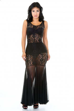 Lacey Mermaid Maxi Dress