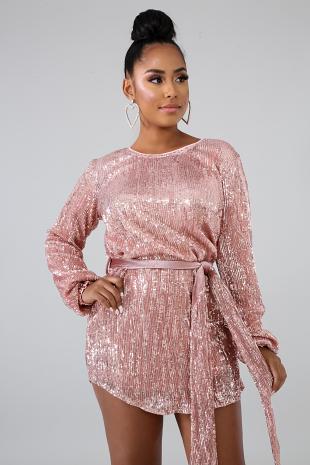 Sequin Velvet Tie Dress