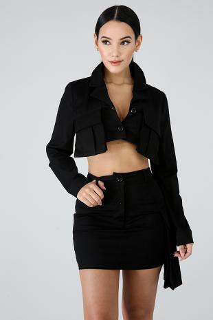 Pocket Length Skirt Set